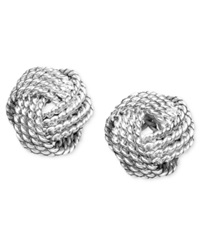 Giani Bernini Sterling Silver Earrings Twist Knot Stud
