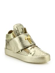 Giuseppe Zanotti Snake Print Grip Tape Low Top Sneakers