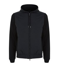Boss Seeger Nylon Front Hoodie Male Black