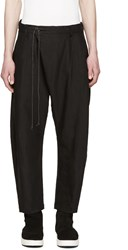 Attachment Black Cropped Drawstring Trousers