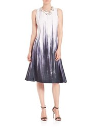 Josie Natori Flared Ombre Dress Ombre Navy