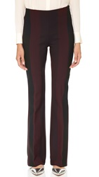 Clover Canyon Striped Suiting Pants Burgundy