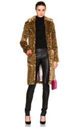 Shrimps Claude Faux Fur Coat In Animal Print Brown Animal Print Brown