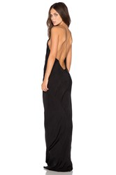 Titania Inglis X Revolve Long Plunge Dress Black