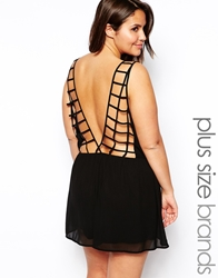 Alice And You Cage Back Playsuit Black
