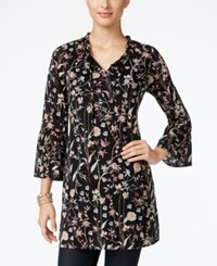 Styleandco. Style Co. Printed Bell Sleeve Tunic Only At Macy's Woodland Garden