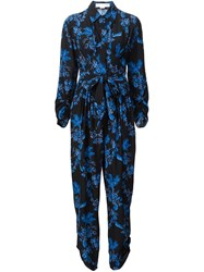 Stella Mccartney Floral Pattern Jumpsuit Black