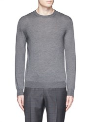 Isaia Cashmere Silk Sweater Grey