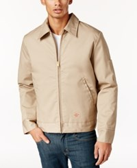 Dickies Men's Ike Lightweight Fully Lined Twill Work Jacket Khaki