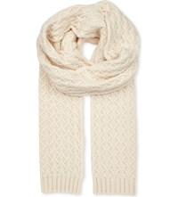 Johnstons Quilted Cashmere Scarf Chalk