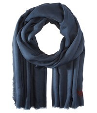 The Kooples Cotton Crest Scarf Grey