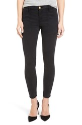 Current Elliott Women's 'The Station Agent' Skinny Twill Pants Washed Black
