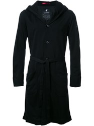 Loveless Belted Hooded Coat Black