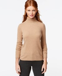 Charter Club Cashmere Turtleneck Sweater Only At Macy's 16 Colors Available Heather Camel