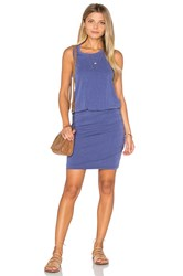 Sundry Ruched Tank Dress Blue