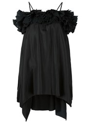 Faith Connexion Off Shoulder Ruffled Blouse Black