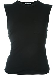 T By Alexander Wang Chest Pocket Tank Top Black