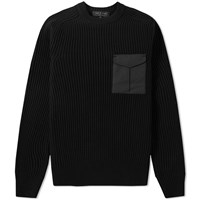 Rag And Bone Elijah Crew Knit Black