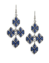 Robert Rose Tiered Chandelier Earrings Blue