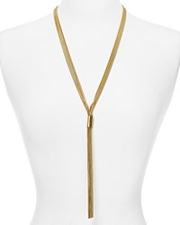Aqua Casey Fringe Lariat Necklace 24 Gold