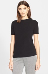 Theory 'Tolleree' Short Sleeve Cashmere Pullover Black