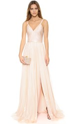J. Mendel Genevieve Gown Champagne