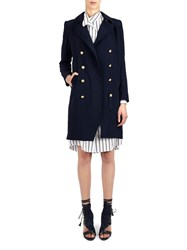 Alexis Mabille Peacoat Dress In Navy Crepe Blue