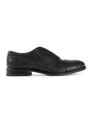 Pollini Textured Derby Shoes Black