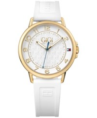 Tommy Hilfiger Women's Gigi Capsule White Silicone Strap Watch 38Mm 1781724