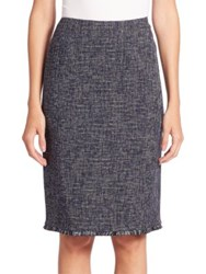 Escada Check Melange Skirt Black Multi