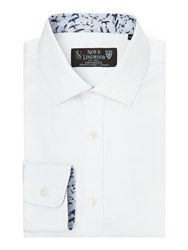 New And Lingwood Greyland Cutaway Collar Formal Shirt White