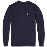 Sophnet. V Neck Knit Blue