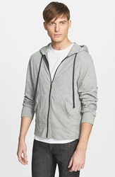 Men's James Perse Classic Zip Hoodie Heather Grey
