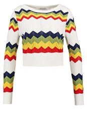 Glamorous Jumper White Multi Multicoloured