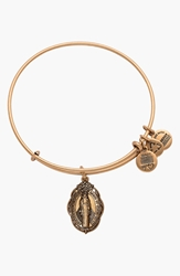 Alex And Ani 'Mother Mary' Wire Bangle Russian Gold