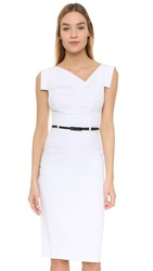 Black Halo Jackie O Belted Dress White