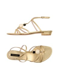 Escada Footwear Thong Sandals Women Gold