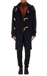 Burberry X Barneys New York Men's Wool Blend Hooded Duffle Coat Navy