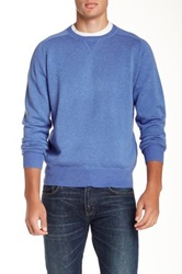 Peter Millar Loop Back Crew Neck Sweater Blue
