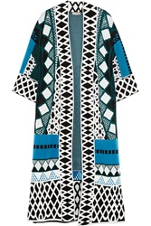 Temperley London Gayla Intarsia Stretch Knit Coat
