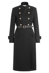 Philosophy Di Lorenzo Serafini Wool Coat With Belt And Embossed Buttons Black