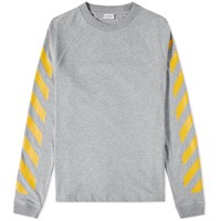 Moncler O X Off White Long Sleeve Chevron Tee Grey