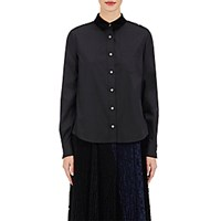 Sacai Women's Lace Back Shirt Black Blue Black Blue