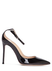 Gianvito Rossi Gia Patent Stiletto Heeled Pumps Black