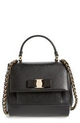 Salvatore Ferragamo 'Small Carrie' Satchel Black Nero