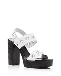 Charles By Charles David Paradise Platform Sandals Compare At 119 White
