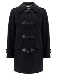Four Seasons Plain Duffle Coat Graphite