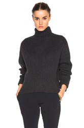 Ellery Mia High Collar Sweater In Gray Black