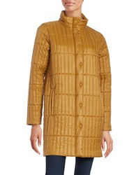 Eileen Fisher Quilted Long Sleeve Coat Antartica