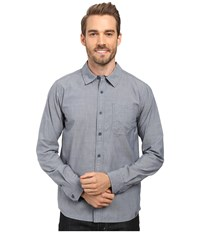 Smartwool Summit County Chambray Long Sleeve Shirt Dark Steel Blue Men's Clothing Navy